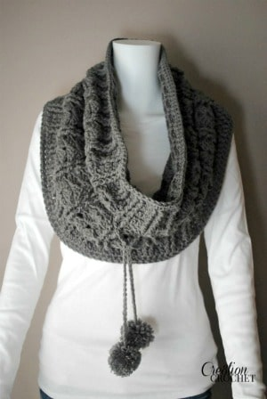 Cathedral Convertible Cowl Wear as a cowl with drawstring pulled tight