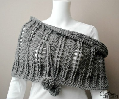 Cathedral Convertible Cowl Wear half on shoulders