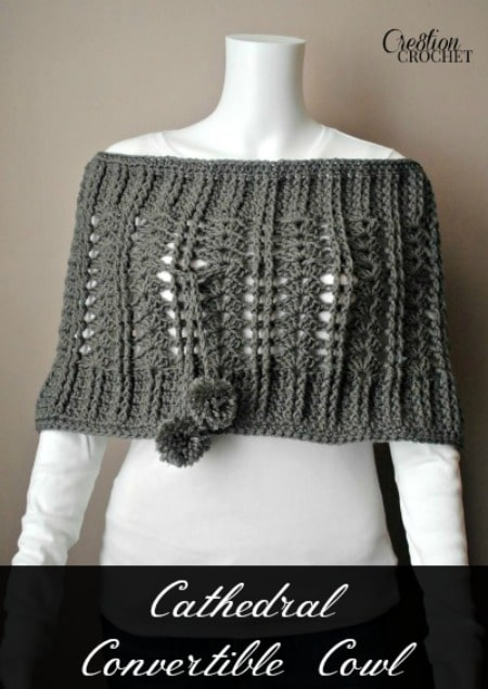 Free Crochet Convertible Cowl Pattern : Cathedral Convertible Cowl - Cre8tion Crochet
