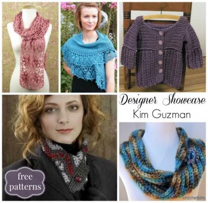 Designer Showcase Kim Guzman with free crochet patterns