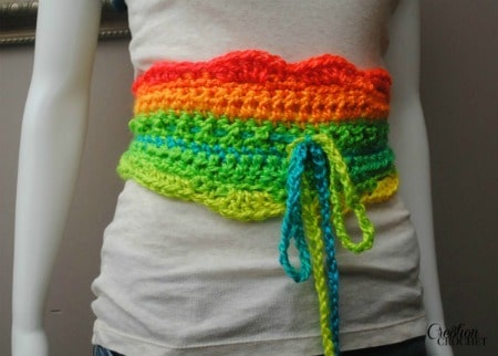 Uniquely Neon Crochet Belt